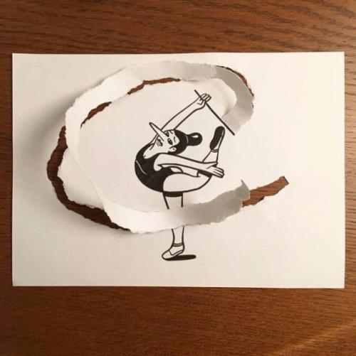 ilustraciones-interactuan-con-el-papel-2
