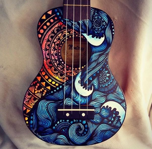 instrumentos musicales pintados 2