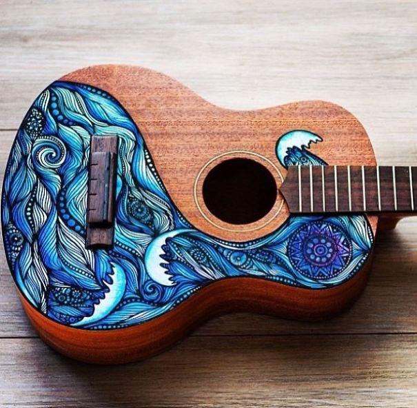 instrumentos musicales pintados 4