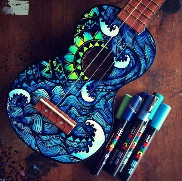 instrumentos musicales pintados 6