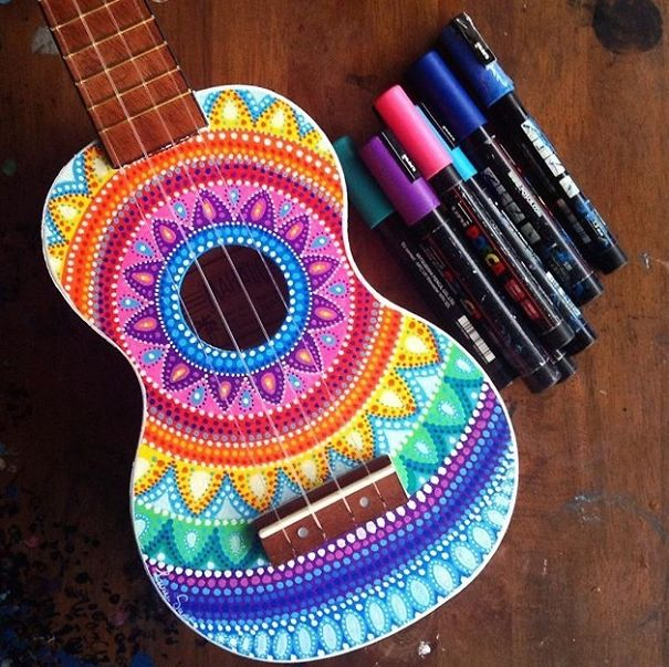 instrumentos musicales pintados 9