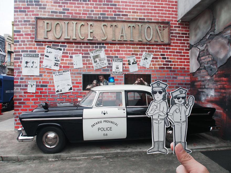 Taza de coches cl/ásicos Volvo 122S y placa script ilustraciones dibujadas a mano.