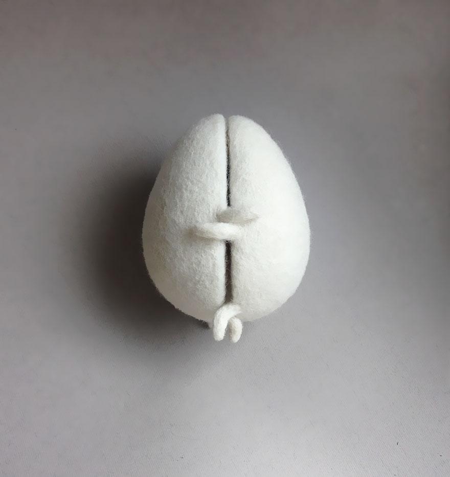 Divertidas esculturas de lana de fieltro f1611cf899d