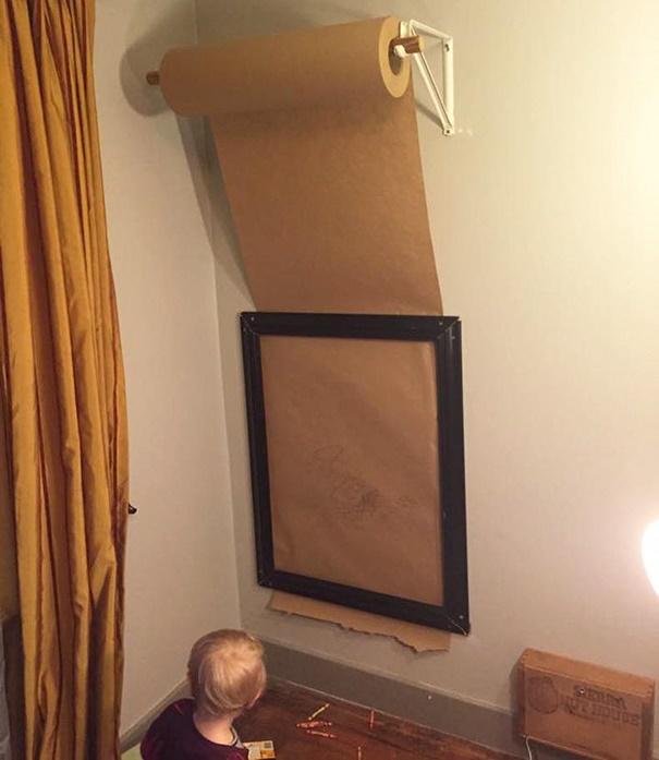 Truco para que tus hijos no pinten las paredes - Trucos para empapelar paredes ...