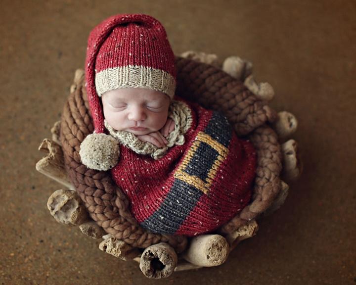 bebe-disfrazado-de-Papa-Noel