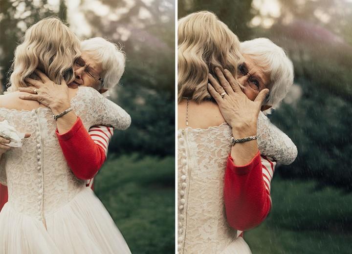Novia con el vestido que llevó su abuela en 1962