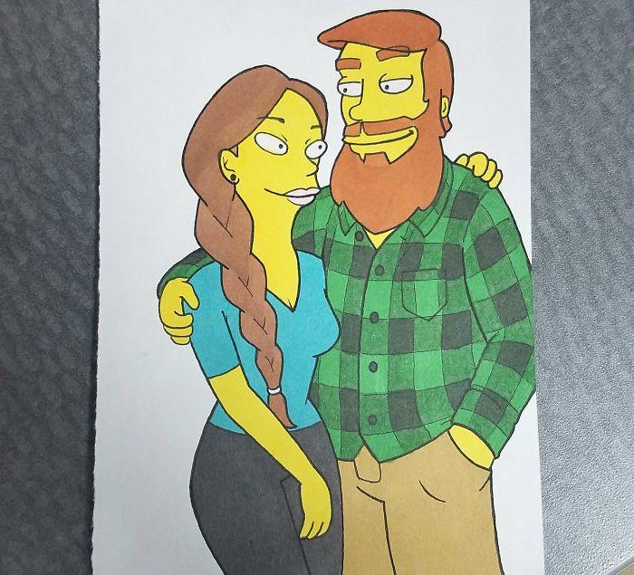 pareja-dibujos