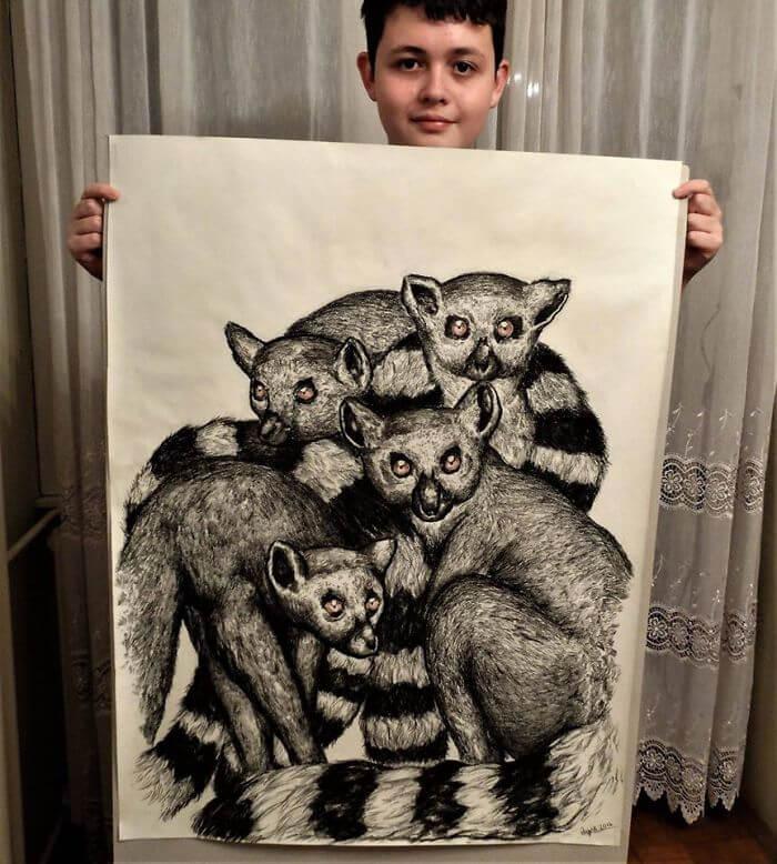 El chico de 15 años que dibuja animales basándose en su memoria b98c13c3f1a