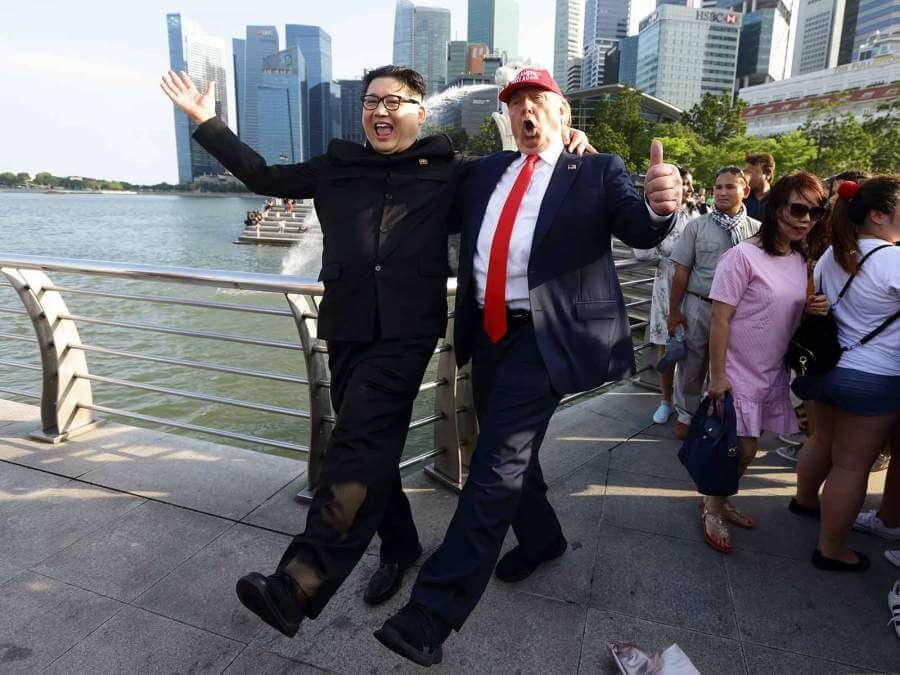 Kim-Jong-un-y-Donald-Trump-colegas