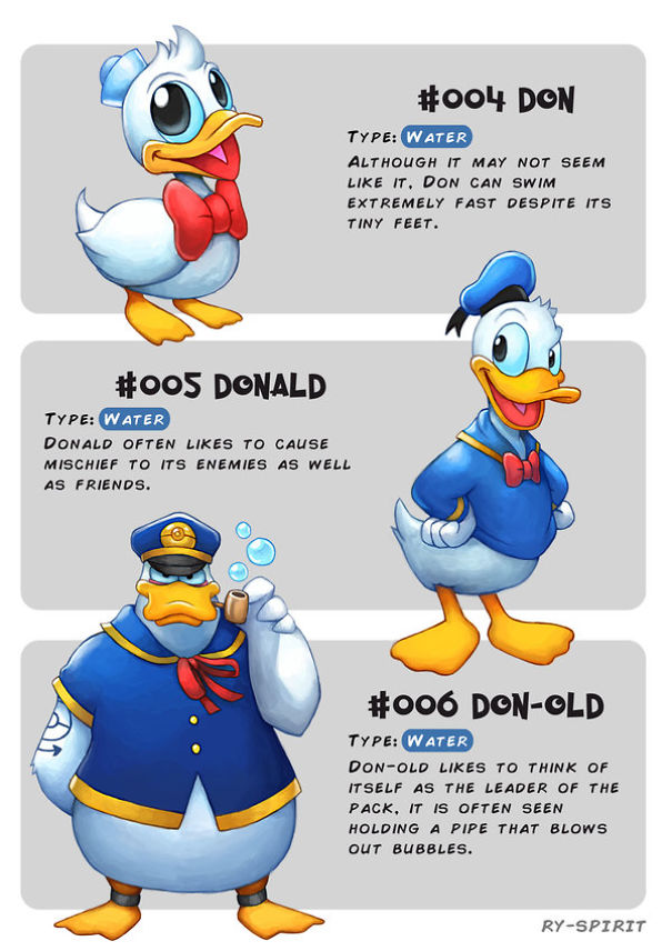 6db26c5ac75 Personajes Disney convertidos en Pokémons que evolucionan | 3Memes.com