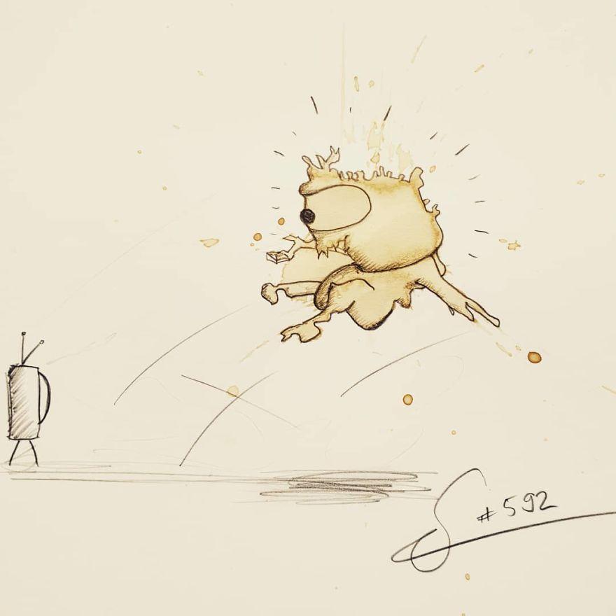 dibujos-monstruos-manchas-cafe